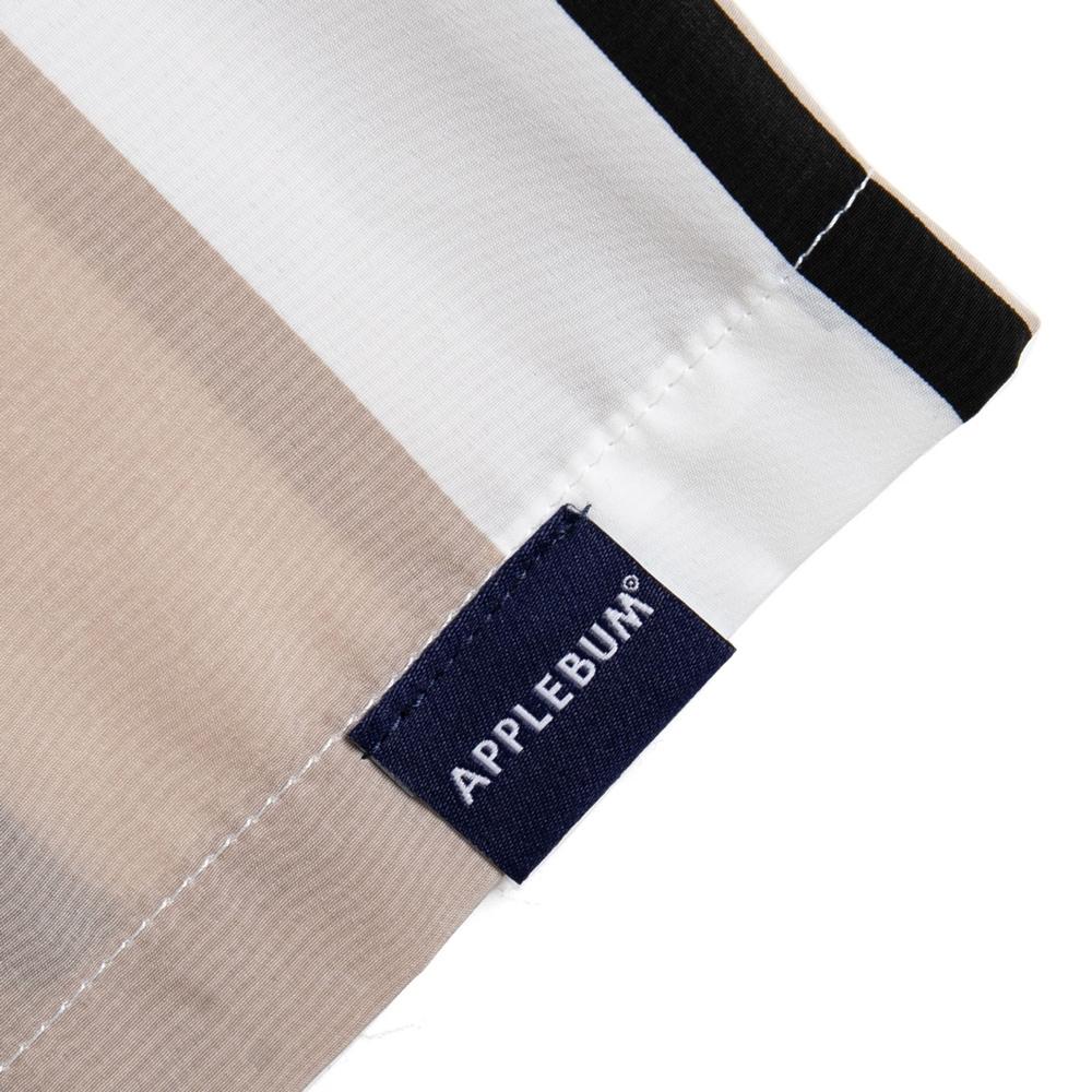 アップルバム  ワイド ストライプ アロハ S/S シャツ