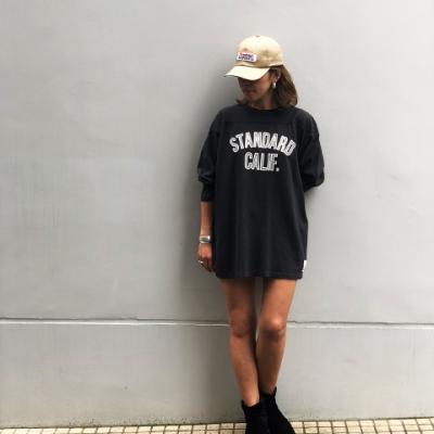 スタンダードカリフォルニア ヘビー ウェイト フットボール ロングスリーブ tシャツ