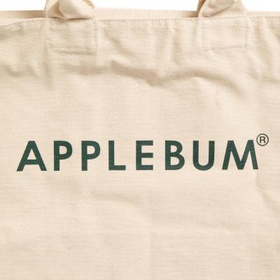 アップルバム  ロゴ キャンバス ジップ トートバッグ