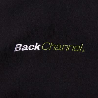 バックチャンネル オフィシャル ロゴ プルオーバー パーカ