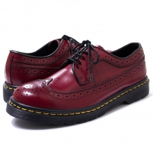 KUSTOM STYLE, WING TIP LEATHER SHOES