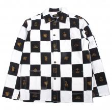 ソフトマシーン チェスボード パッチワーク カバーオール ジャケット
