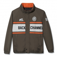 Back Channel, stand collar jacket
