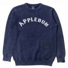 アップルバム  インディゴ アーチ ロゴ クルー セーター