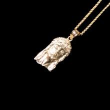 ジーザス 10K イエロー ゴールド ペンダント ヘッド & ネックレス