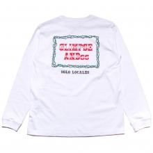 グリンプス オリジナル ローズ ロゴ ロングスリーブ Tシャツ