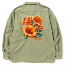 キャリー 6オンス カラー デニム シャツ