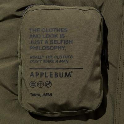 アップルバム  ダウン フード ジャケット
