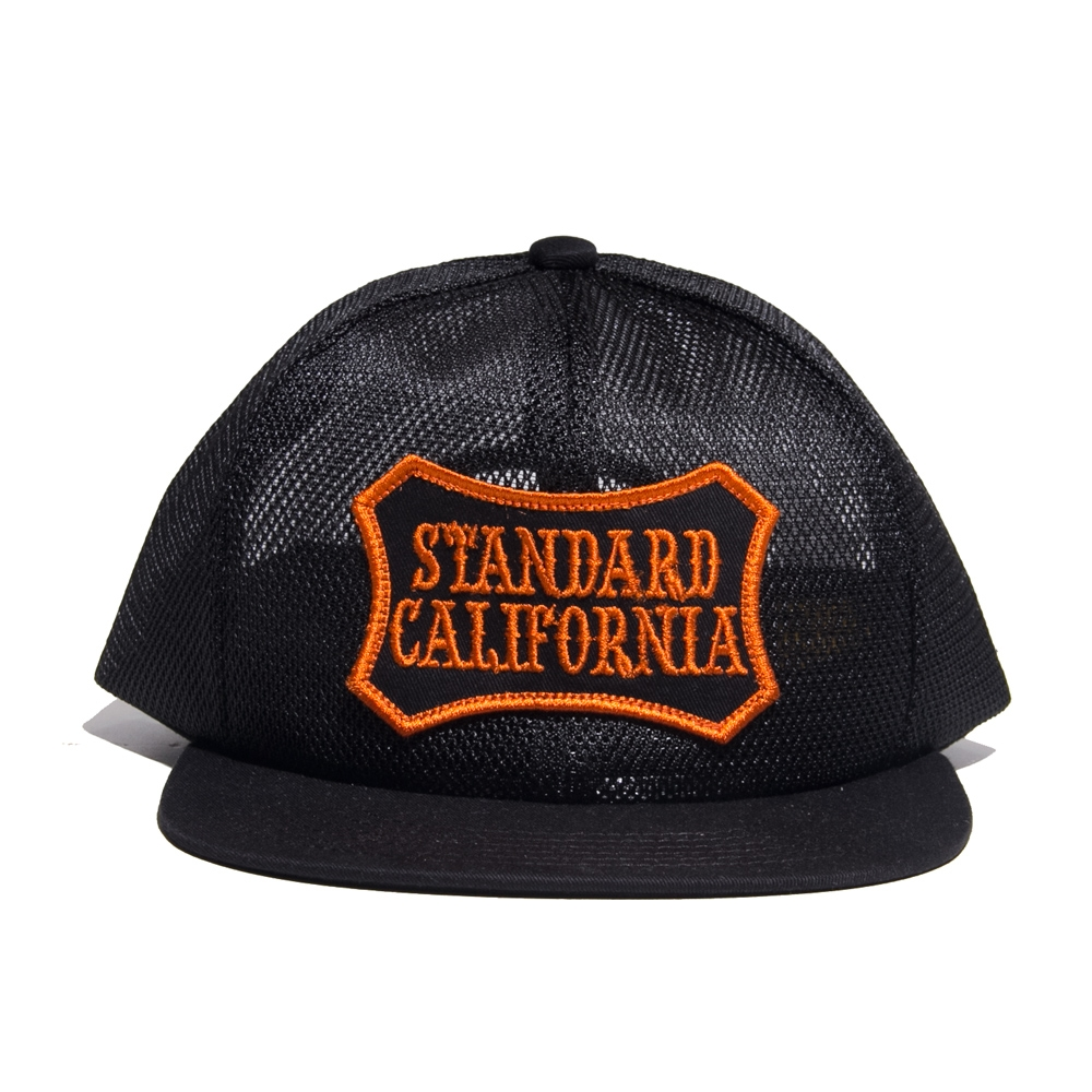スタンダードカリフォルニア シールド ロゴ パッチ オール メッシュ キャップ