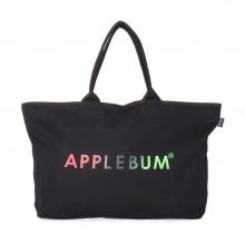 アップルバム  グラデーション ロゴ ジップ トートバッグ